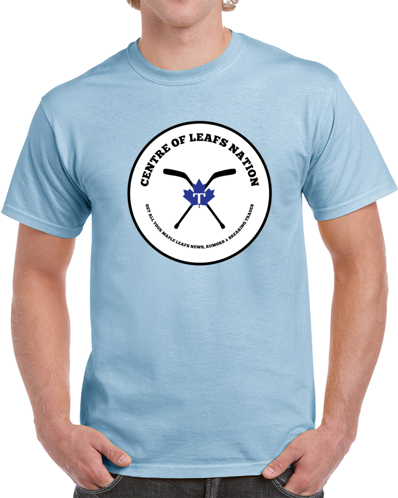 Centre Of Leafs Nation Light Blue T Shirt