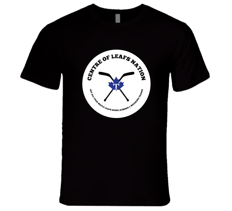 Centre Of Leafs Nation Black T-shirt