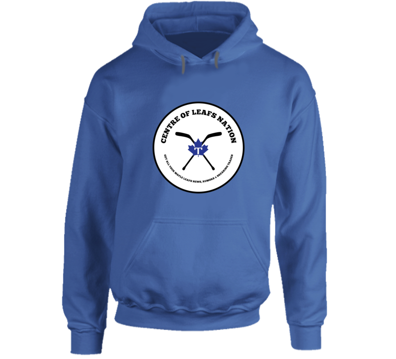 Centre Of Leafs Nation Blue Hoodie