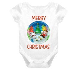 Merry Christmas Charlie Brown - Peanuts Holiday Baby One Piece