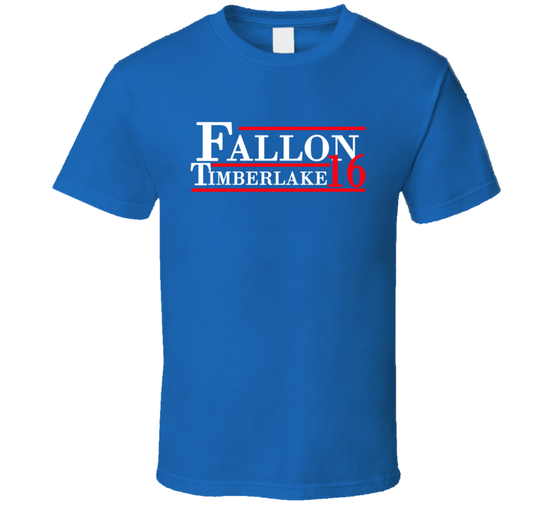 Jimmy Fallon / Justin Timberlake For President 2016 (Red/White Font) The Tonight Show Funny T Shirt