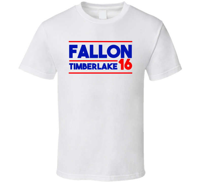 Jimmy Fallon / Justin Timberlake For President 2016 (Red/Blue Bold Font) The Tonight Show Funny T Shirt
