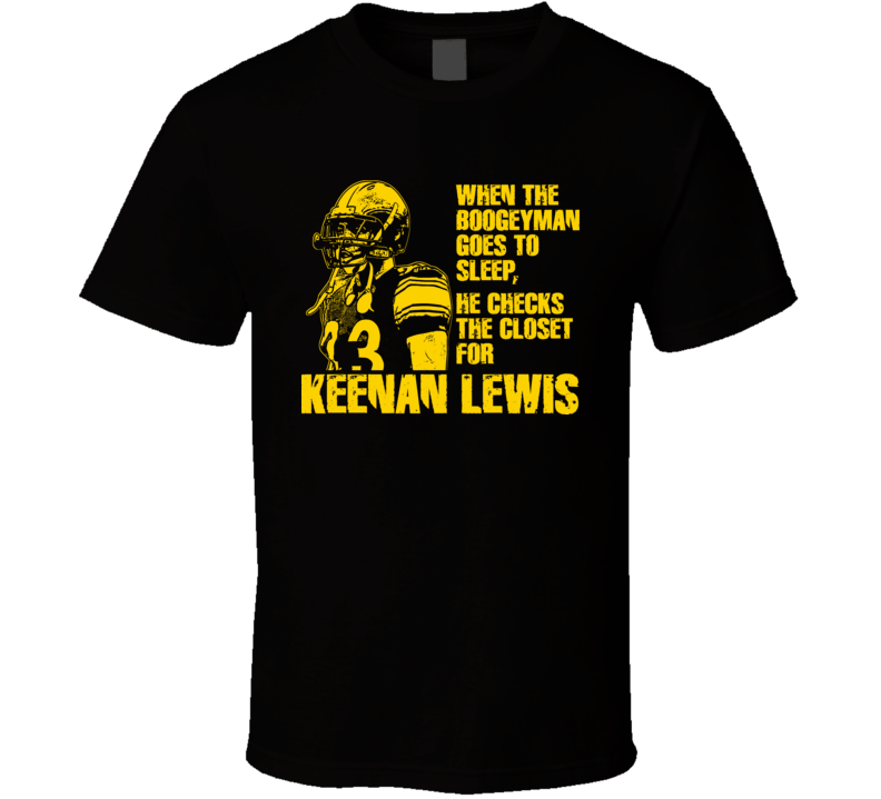 Pittsburgh Football Keenan Lewis Boogeyman T Shirt