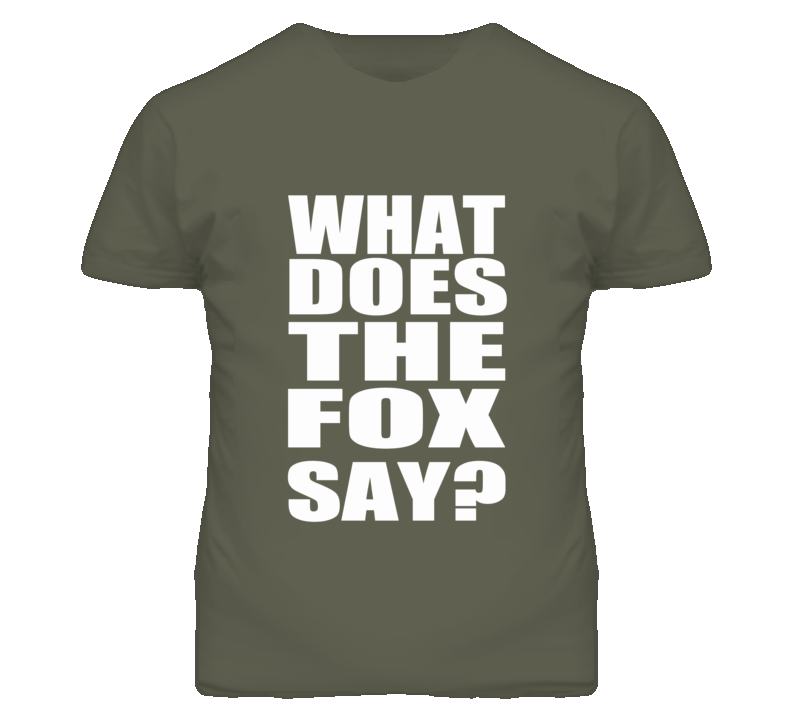 What Does The Fox Say Ylvis Inspired T Shirt