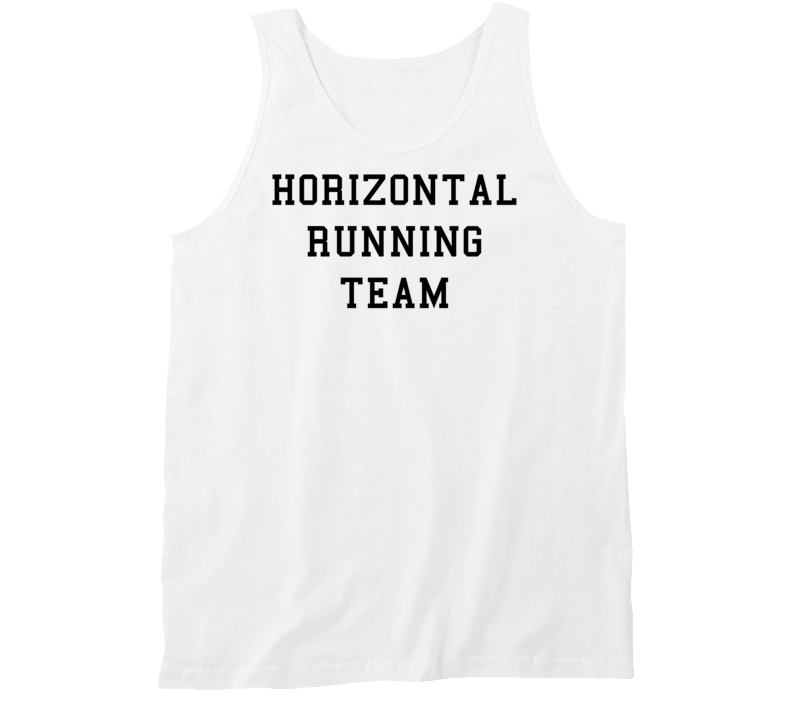 Horizontal Running Team (Black Font) Funny Tanktop