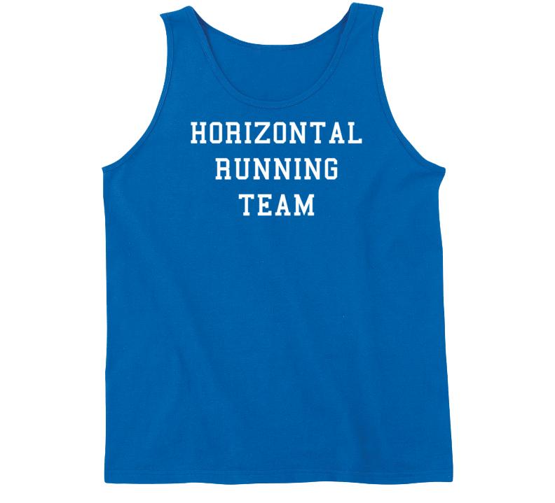 Horizontal Running Team (White Font) Funny Tanktop