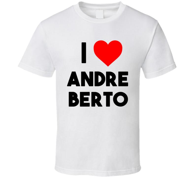 I Heart / Love Andre Berto (Black Bold Font) T Shirt