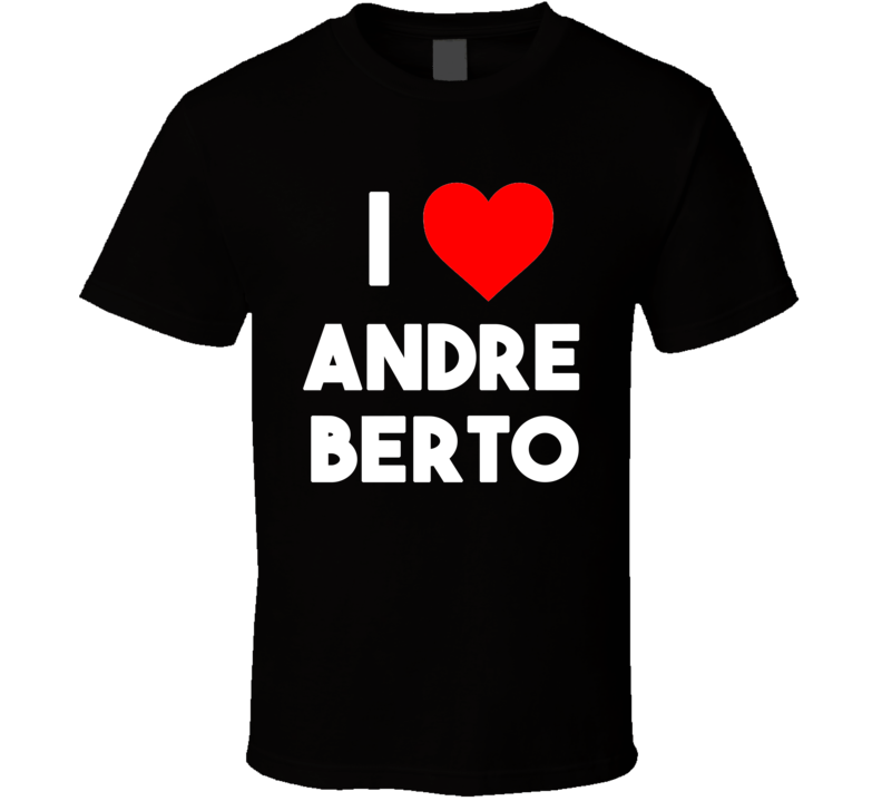 I Heart / Love Andre Berto (White Bold Font) Boxing T Shirt