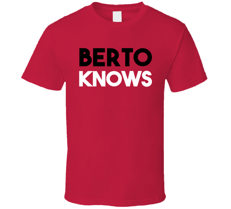 Berto Knows - Andre Berto (Black / White Font) T Shirt