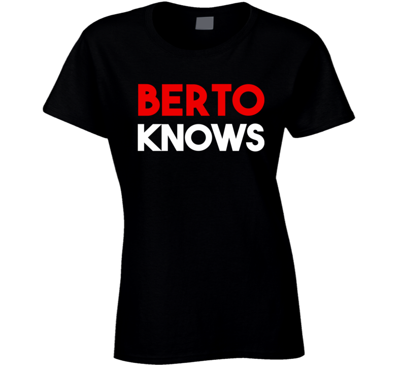 Berto Knows - Andre Berto (Red / White Font) T Shirt