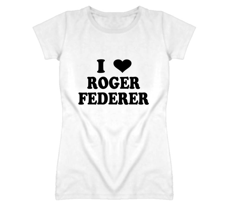 I Heart / Love Roger Federer - Tennis T Shirt