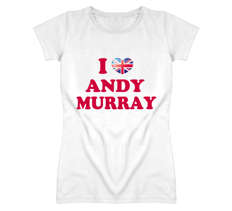 I Heart / Love Andy Murray - Tennis (Red Font) T Shirt
