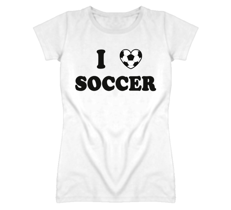 I Heart / Love Soccer T Shirt