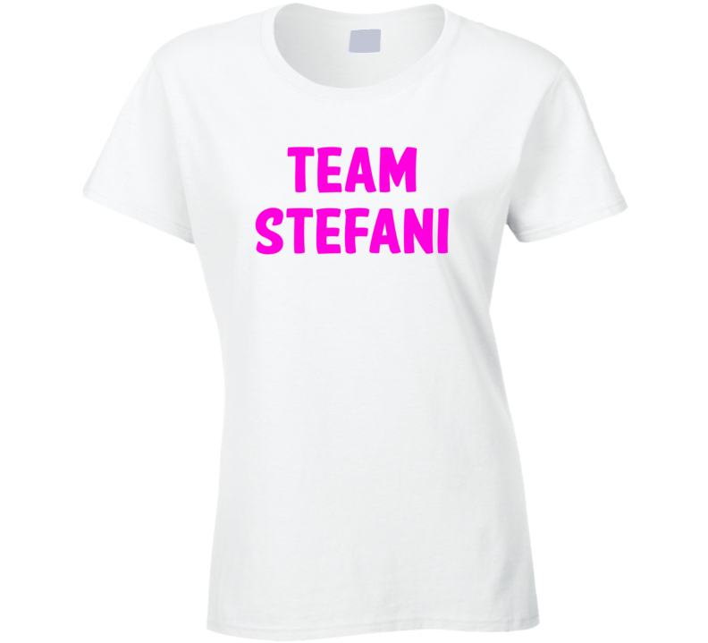 Team Stefani - Gwen Stefani / Blake Shelton inspired (Pink Font) T Shirt