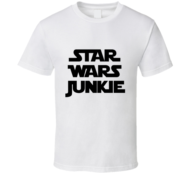Star Wars Junkie - The Force Awakens (Black Font) Fan Movie T Shirt