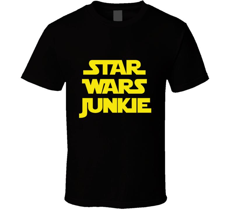 Star Wars Junkie - The Force Awakens (Yellow Font) Fan Movie T Shirt