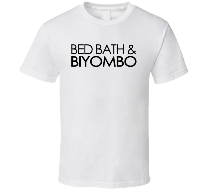 Bed Bath & Biyombo (Black Century Font) Basketball T Shirt