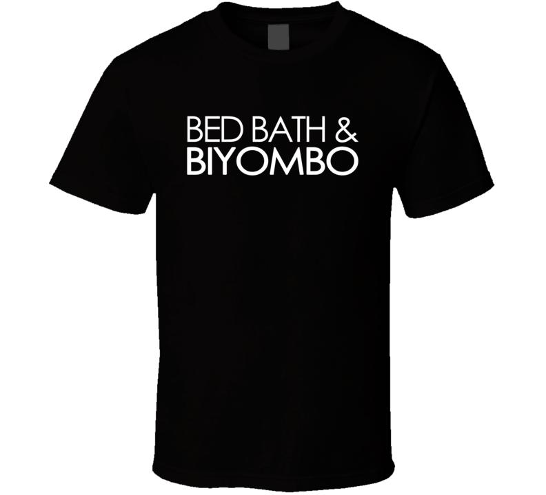 Bed Bath & Biyombo (White Century Font) Basketball T Shirt