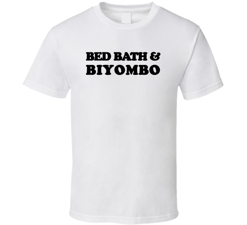 Bed Bath & Biyombo (Black Cooper Font) Basketball T Shirt
