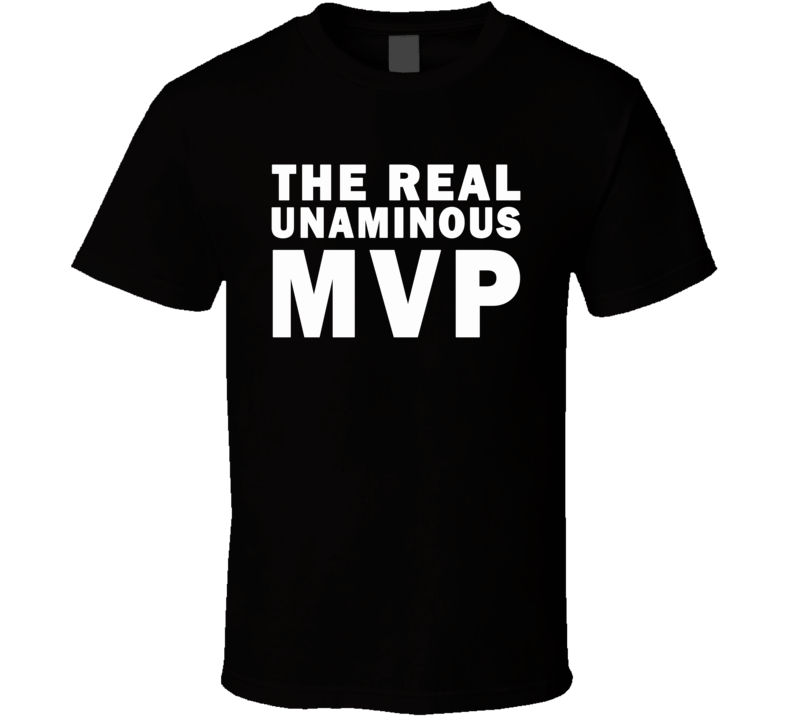 The Real Unaminous MVP (Black Font) Shaq Inspired  T Shirt