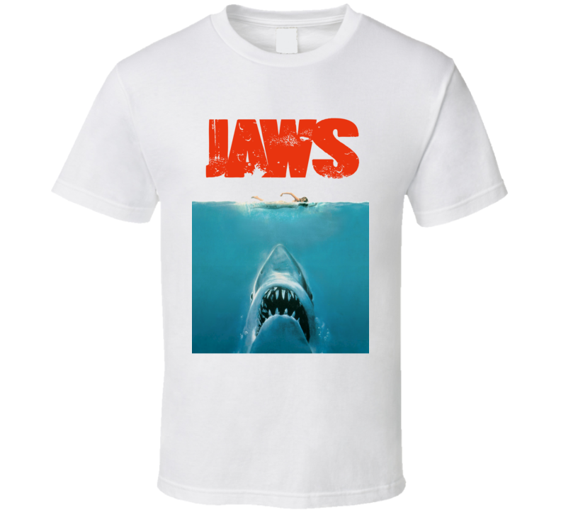 Jaws Movie Poster (Red Distressed Font) Tragically Hip Gord Downie Kingston Concert Inspired T Shirt