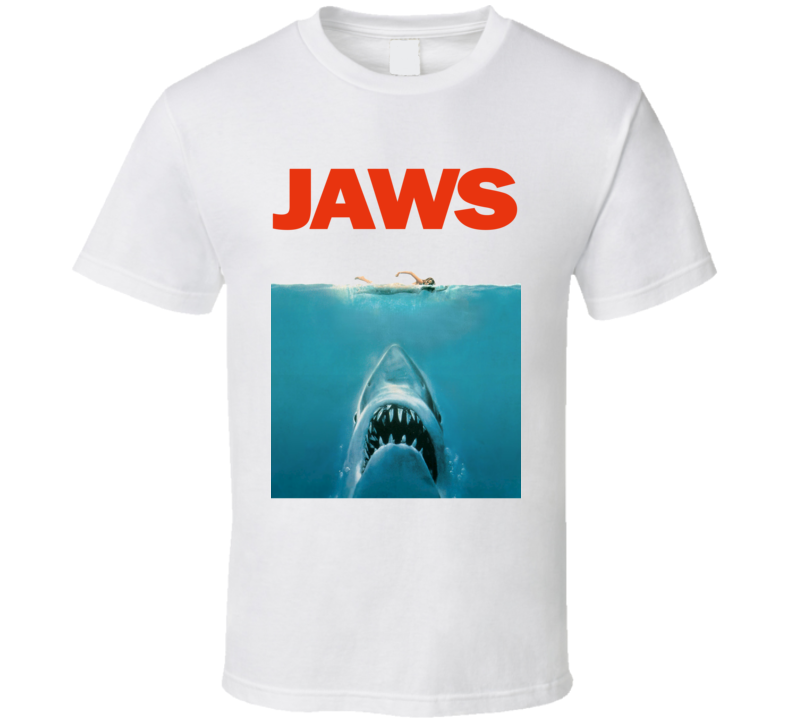 Jaws Movie Poster (Red Font) Tragically Hip Gord Downie Kingston Concert Inspired T Shirt