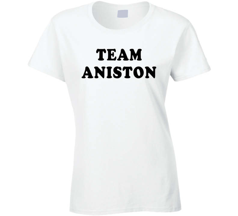 Team Aniston (Black Cooper Font) Brangelina Brad Pitt Angelina Jolie Divorce T Shirt