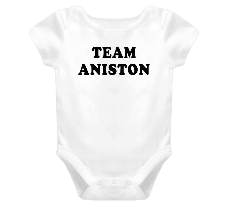 Team Jennifer Aniston (Black Cooper Font) Brangelina Brad Pitt Angelina Jolie Divorce Baby One Piece