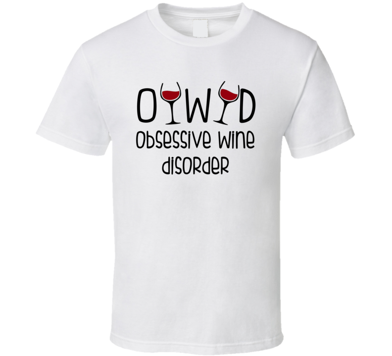 OWD Obsessive Wine Disorder (Black Font) Funny Mother's Day T Shirt