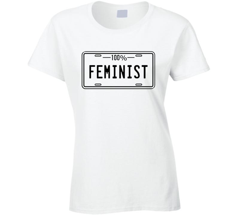 100% Feminist - Women's History Month Inspired T Shirt