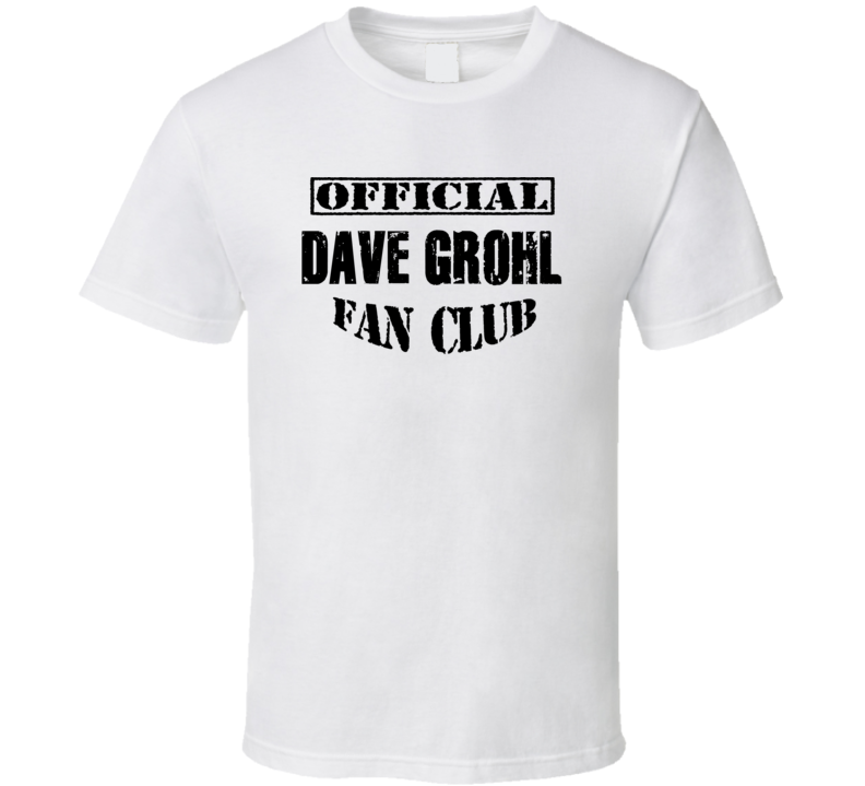 Official Dave Grohl Fan Club - Popular Concert / Tour T Shirt