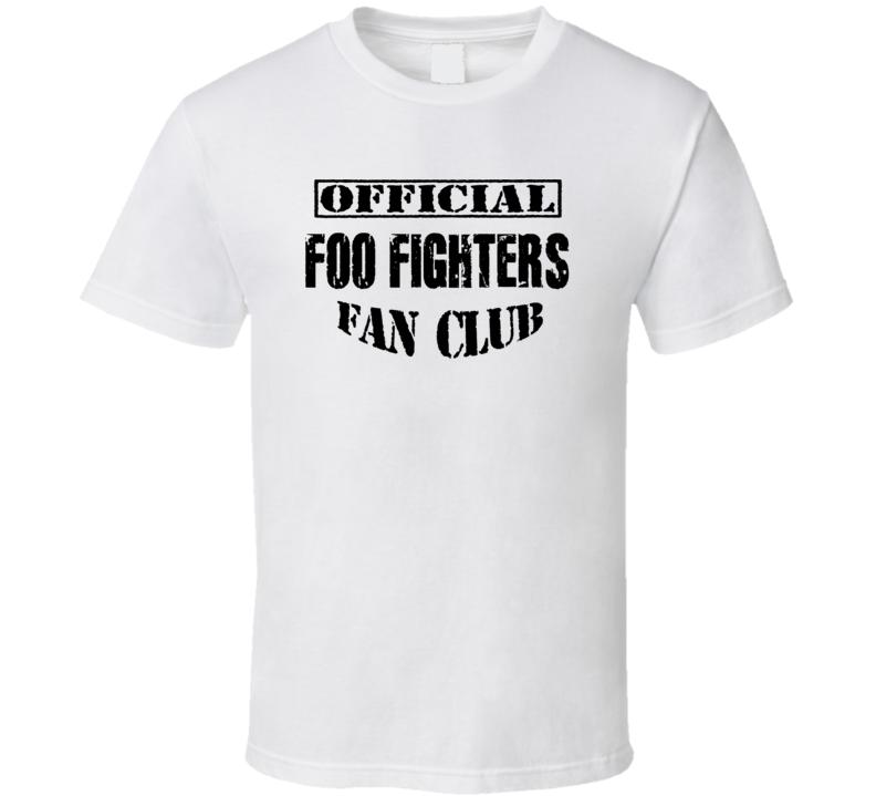 Official Foo Fighters Fan Club - Popular Concert / Tour T Shirt