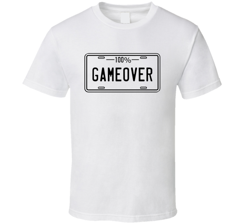 100% Game Over Funny Groom Bachelor Party / Stag Night  T Shirt