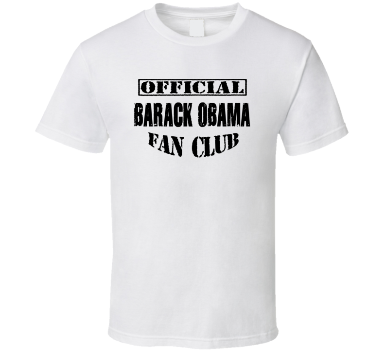 Official Barack Obama Fan Club We Miss Barack T Shirt