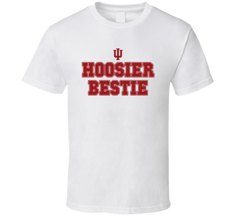 Hoosier Bestie Indiana College Football Inspired Funny Popular T Shirt
