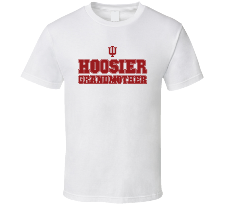 Hoosier Grandmother Indiana College Football Inspired Funny Popular T Shirt