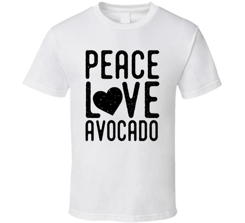 Peace Love Avocado Funny Popular T Shirt