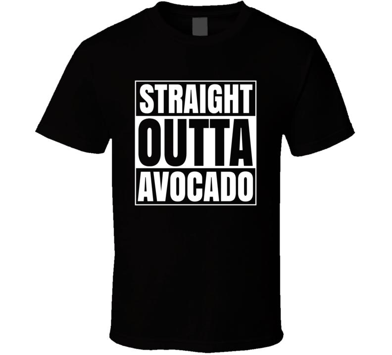 Straight Outta Avocado Funny Popular T Shirt