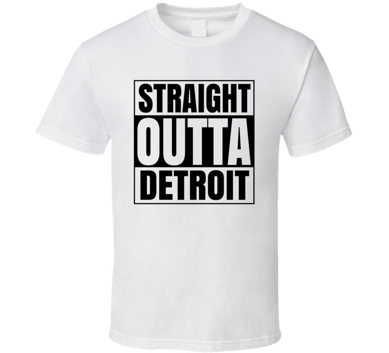 Straight Outta Detroit Popular City  T Shirt