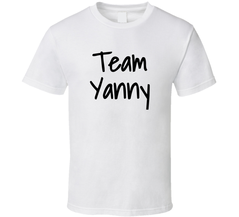 Team Yanny  (black Font) Funny Internet Debate Laurel Vs Yanny T Shirt