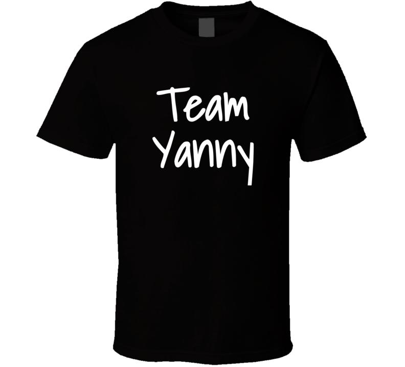 Team Yanny  (white Font) Funny Internet Debate Laurel Vs Yanny T Shirt