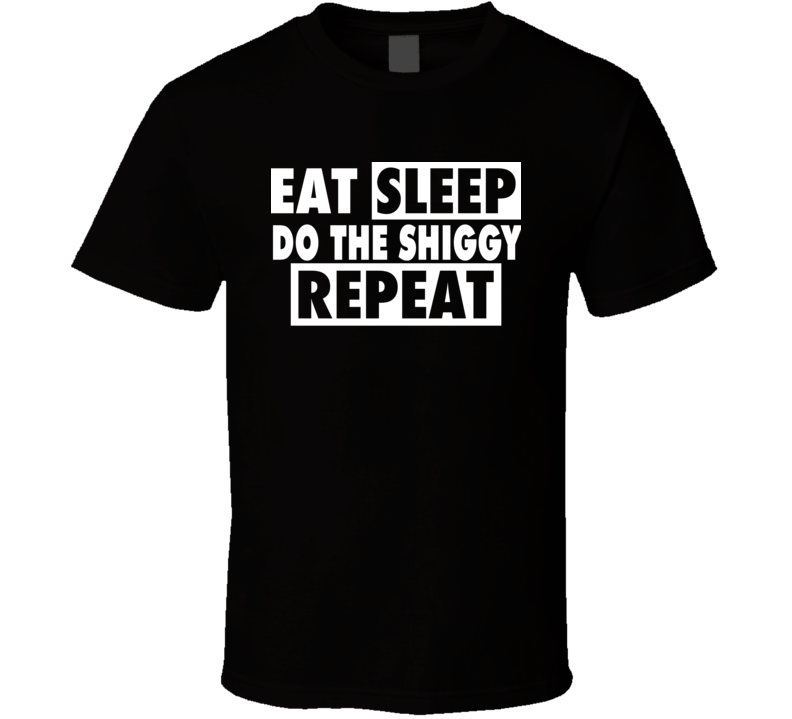 Eat Sleep Do The Shiggy Repeat Funny Popular Viral T Shirt