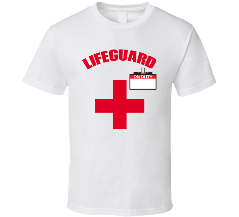 Funny Halloween Lifeguard On Duty ( Write Your Own Name On) T Shirt