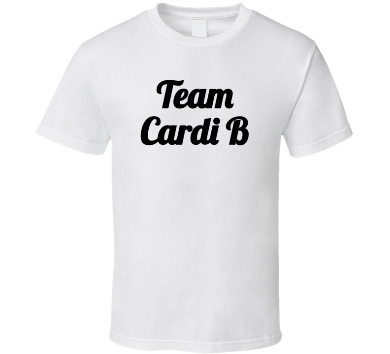 Team Cardi ( Black Font) Minaj Fued Popular T Shirt