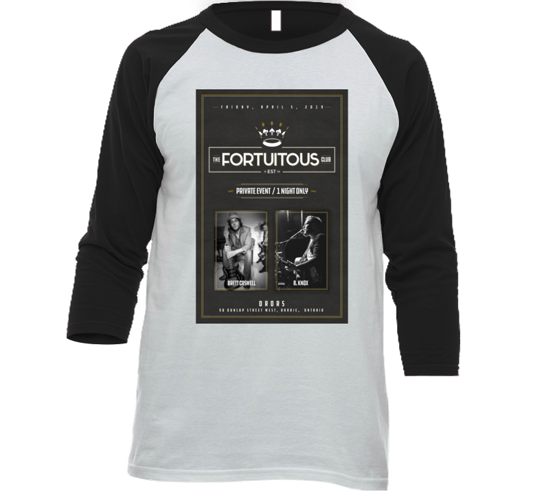 Live At The Fortuitous Club, Brett Caswell & B. Knox T Shirt