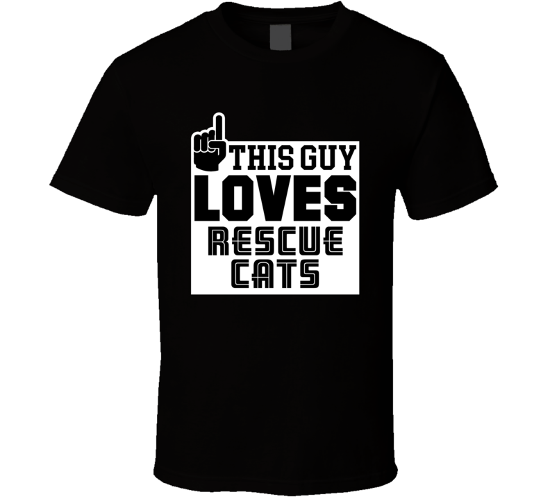 This Guy Loves Rescue Cats Popular T Shirt
