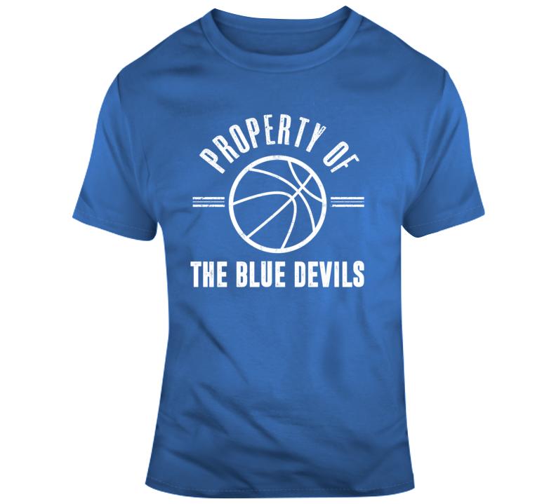 Property Of The Blue Devils Basketball Popular T Shirt