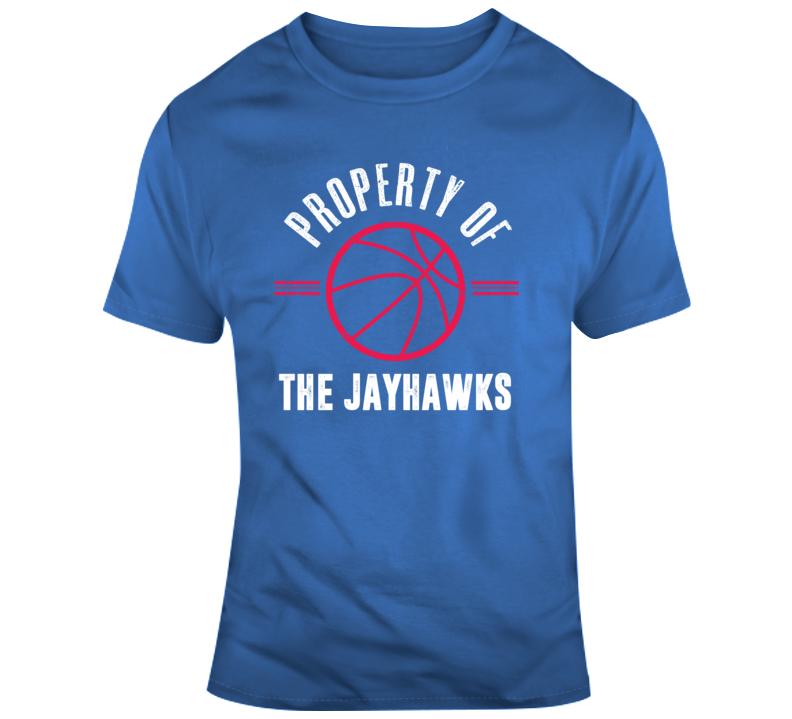 Property Of The Jayhawks Basketball Popular T Shirt