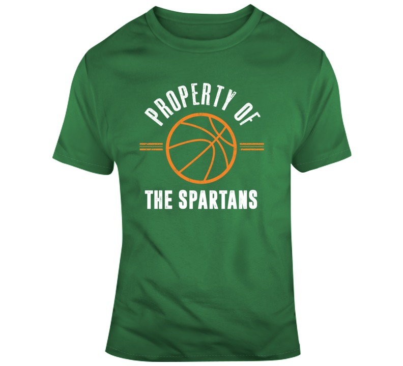 Property Of The Spartans Basketball Popular T Shirt
