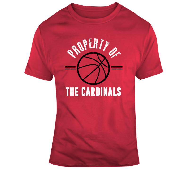 Property Of The Cardinals Basketball Popular T Shirt